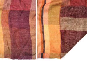custom scarf fabric in a silk wool blend, dark warm colors