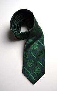Grand Ledge of Florida, green, woven, tie