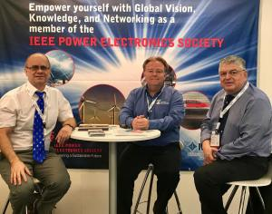 PELS Immediate past-President Braham Ferreira, Executive Director Mike Kelly, and VP Global Relations Mario Pacas, are at PCIM in Nuremberg, Germany!