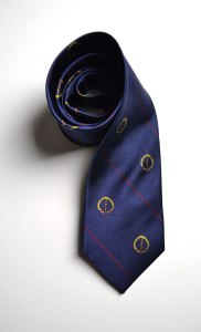New England Surgical Society, blue, woven, tie, stripes