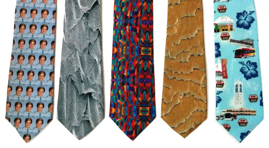 Digitally printed full color artisan ties