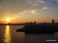 神戸の夕日