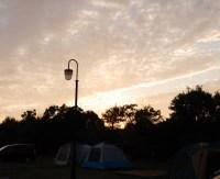 大阪のキャンプ場の夕日