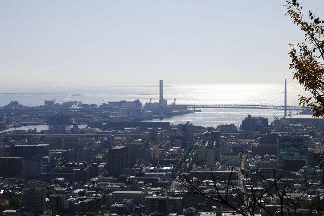 神戸の街並みを見下ろして
