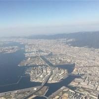 関西の空撮。神戸