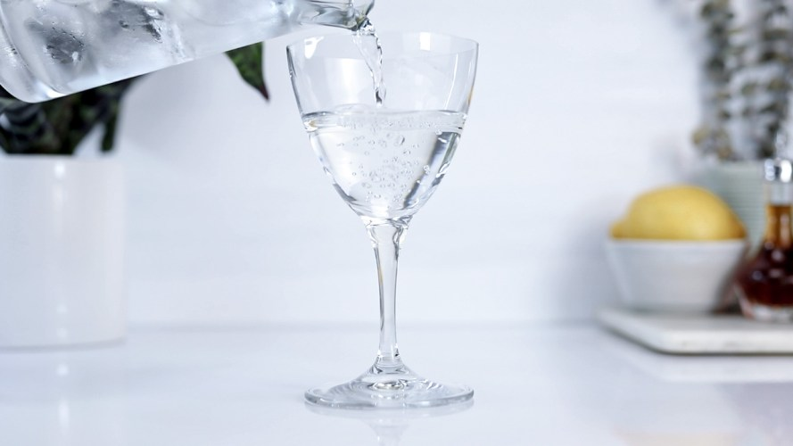Pouring Dry Martini