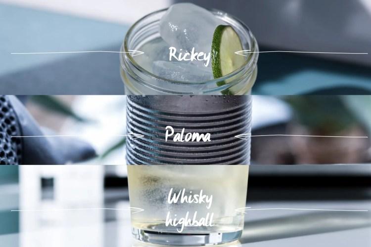Laid back menu triple drinks
