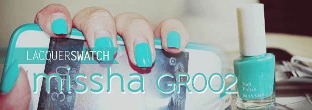 Lacquer Swatch: Missha The Style Nail Polish GR002 +Review