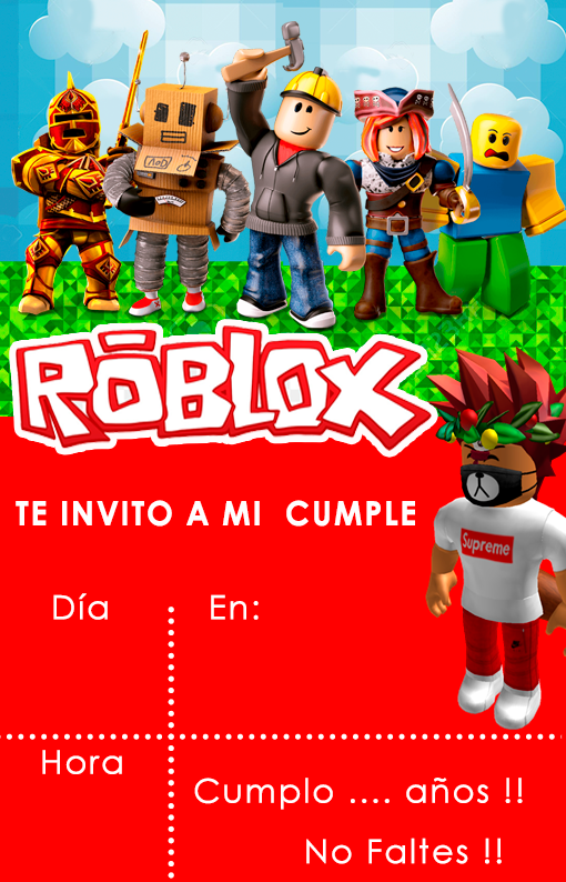 Kit imprimible candy bar Roblox para eventos Candy Bar