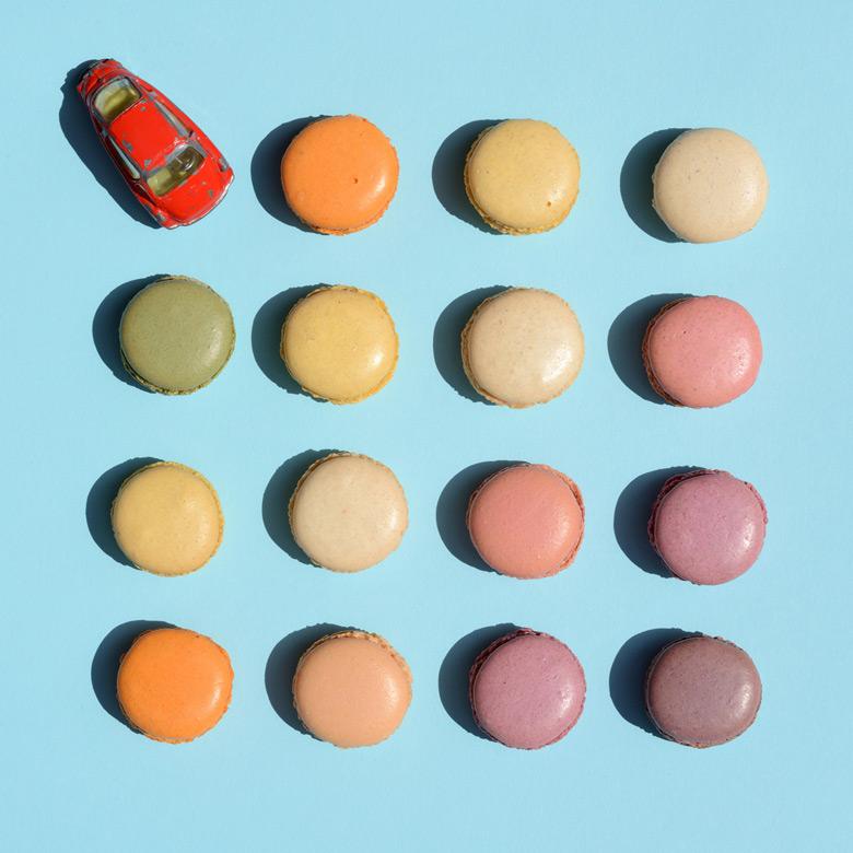 Heinkel Kabinenroller Spielzeugauto Macarons