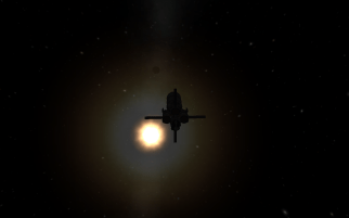 drifting in space