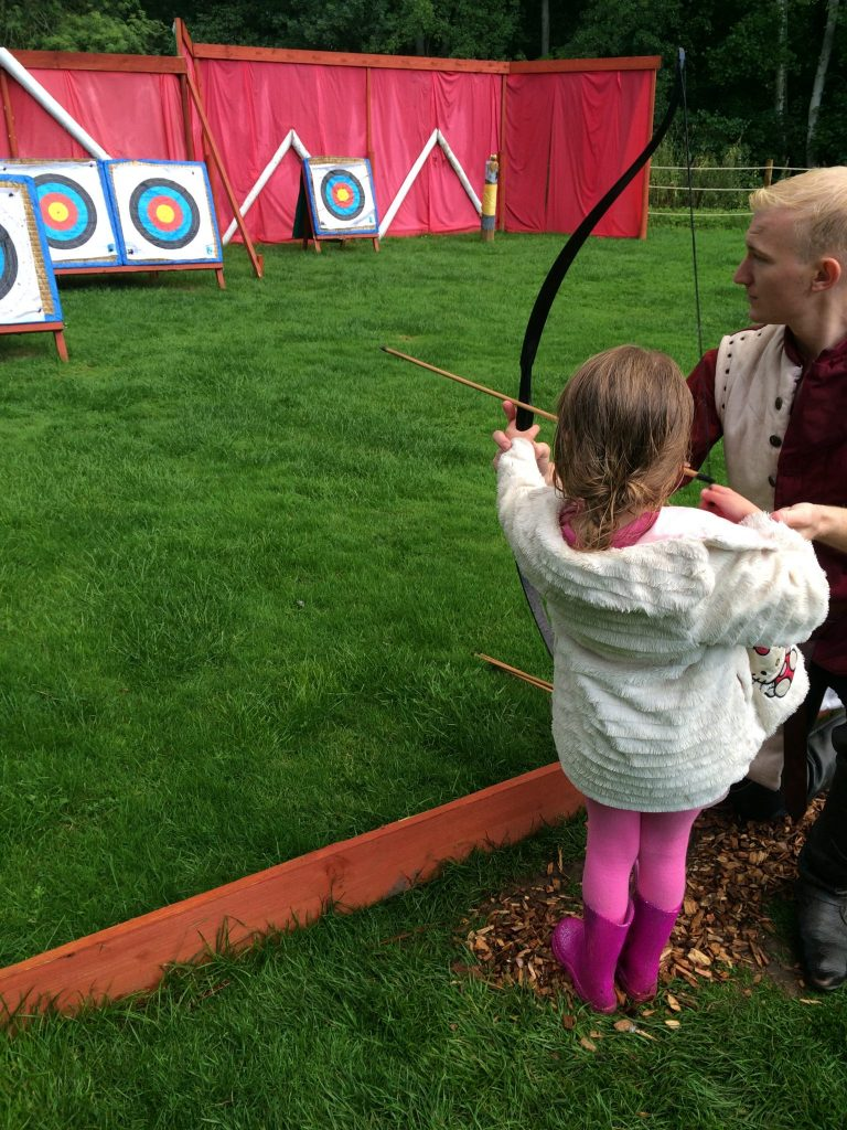 Warwick Castle Kids Archery, Glamping Review