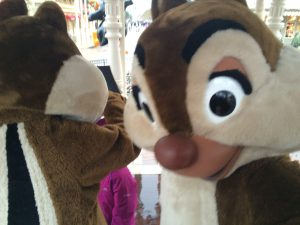 Chip and Dale Disney, Disneyland Paris, Character meet and greet
