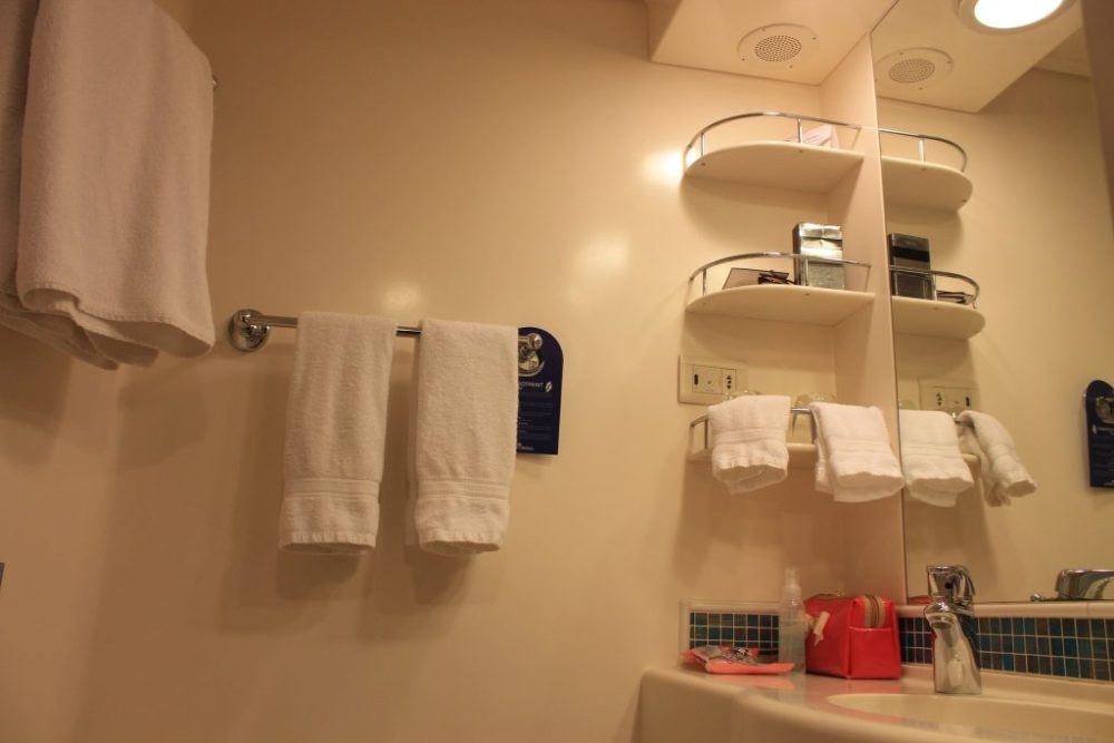 azura balcony cabin ensuite, bathroom storage cabin