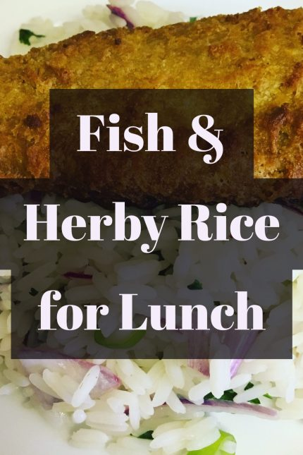 fish dinner, quick and easy fish and rice lunch