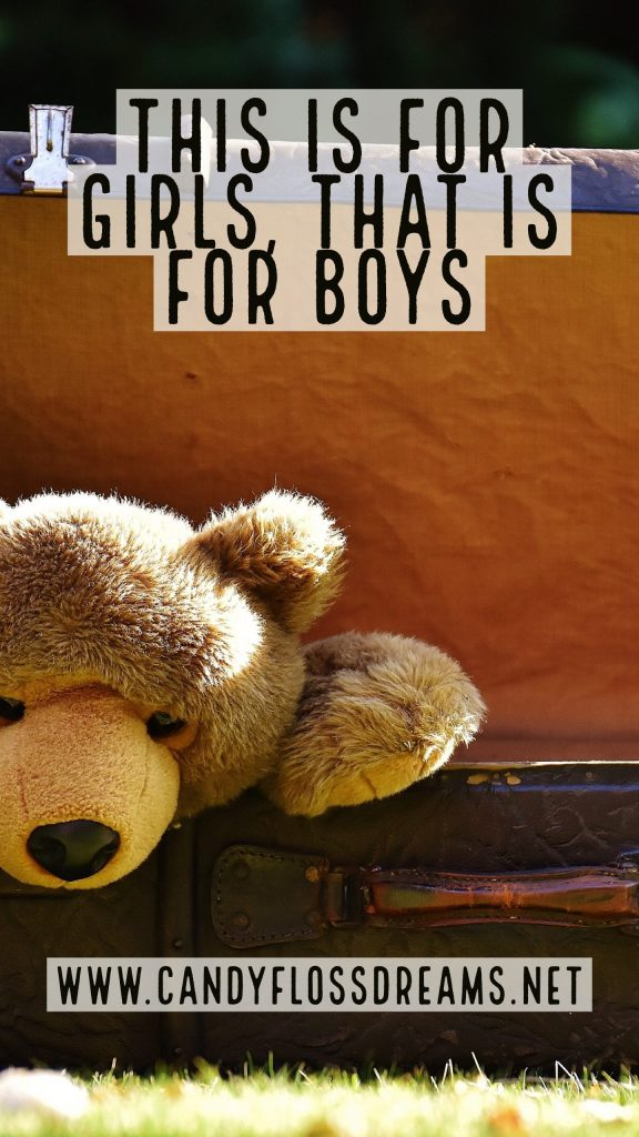 This Is For Girls, That Is For Boys, The problems with gender stereotyping