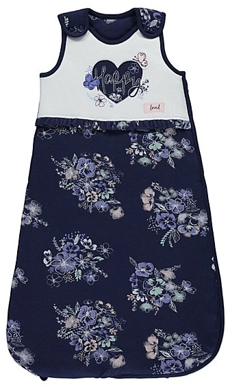 newborn sleeping bag floral blue