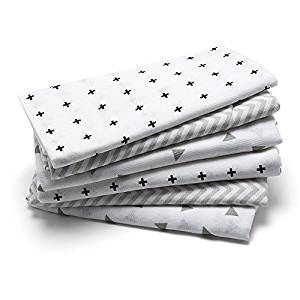 Muslin Squares, Black and White Design burp cloths, new baby wishlist
