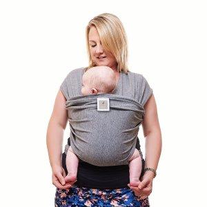 Grey baby carrier, baby sling, funky flamingo grey sling, new baby wishlist