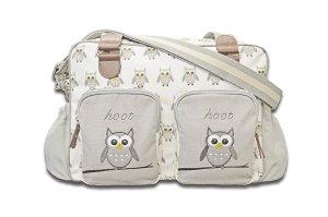 Hoot Hoot Owl Changing Bag, Grey and White, New Baby Wishlist