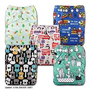 Reusable Nappies with 10 Bamboo Inserts, New Baby wishlist