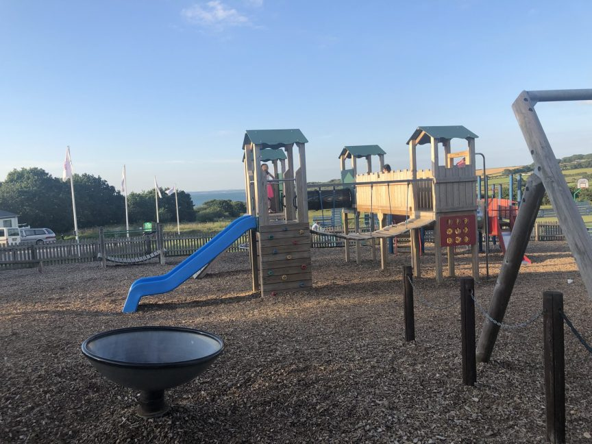 children's adventure playground at thorness bay holiday park