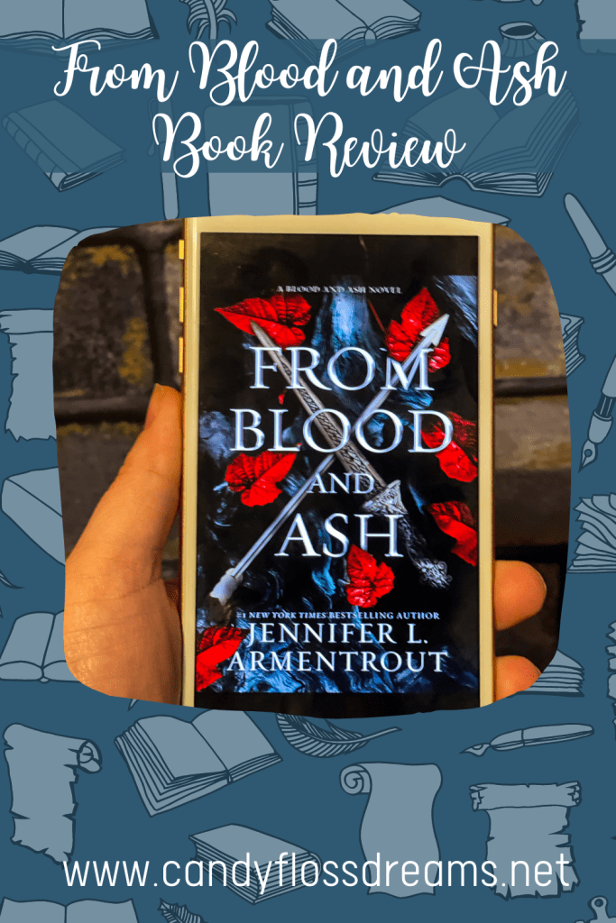 a pin image of the ebook from blood and ash and a full book review