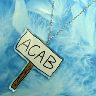 Acab all police are bastards ACAB Protest Double Sided Acryic Fuck The Police Abolish The Police Defund Kill The Bill Protests Riot Picket necklace necklaces chain Earring earrings jewellery rave raver raving disco clubbing festival wear neon y2k clubwear hand made handmade cybertwee neon clubkid carnival streetstyle harajuku street style cyber kinderwhore techno basement underground urban klub kitsch party kei Altboy alternative style alt fashion clowncore aesthetic eboy egirl goblincore goth style grudge jfashion kidcore party kei pastel goth punk boy girl style queer LGBT shop business scenecore rainbowcore