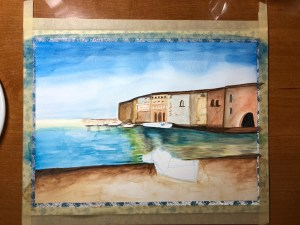 bay watercolor in progress