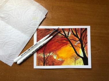 Winter Sunburst watercolor