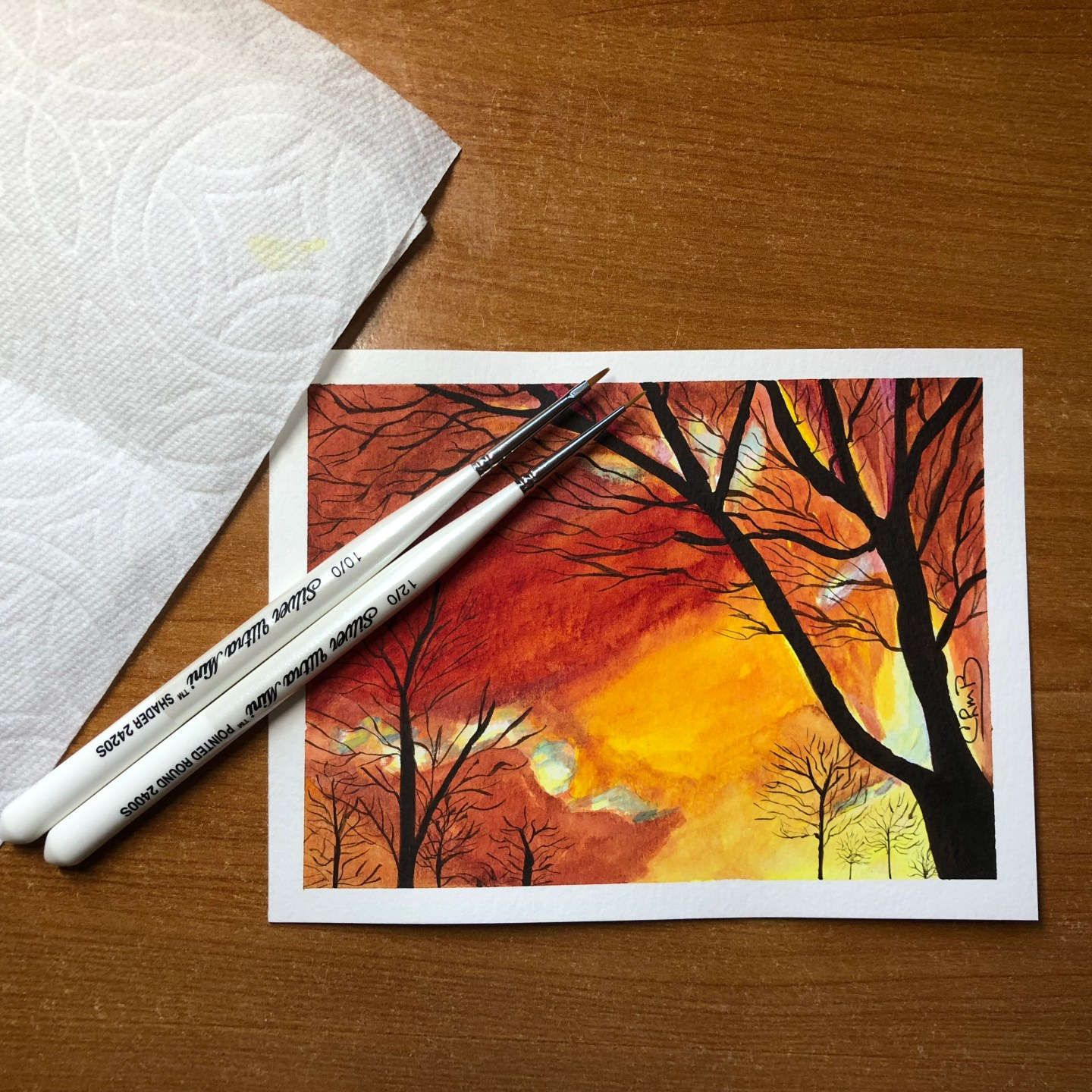 Watercolor – Winter Sunburst