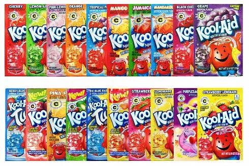 Kool Aid Mega Pack Containing 20 Flavours Of Kool Aid