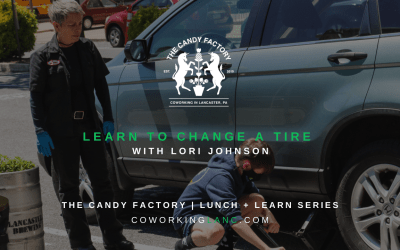 Lunch & Learn Recap: Changing a Tire with Lori Johnson of Ladies Start Your Engines