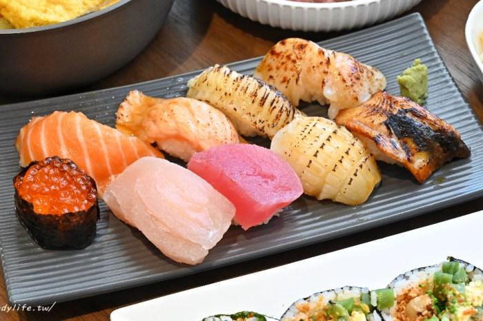 安曇野食卓│台中平價日式料理推薦!現撈魚貨,握壽司、散壽司、生魚片、鍋物樣樣有,打卡再送手卷~