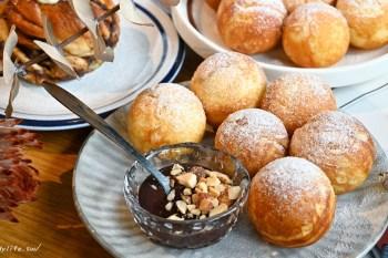 孔雀咖啡 台中咖啡館推薦,近台中柳川水岸,不只咖啡好喝,還有超可愛的鬆餅球~