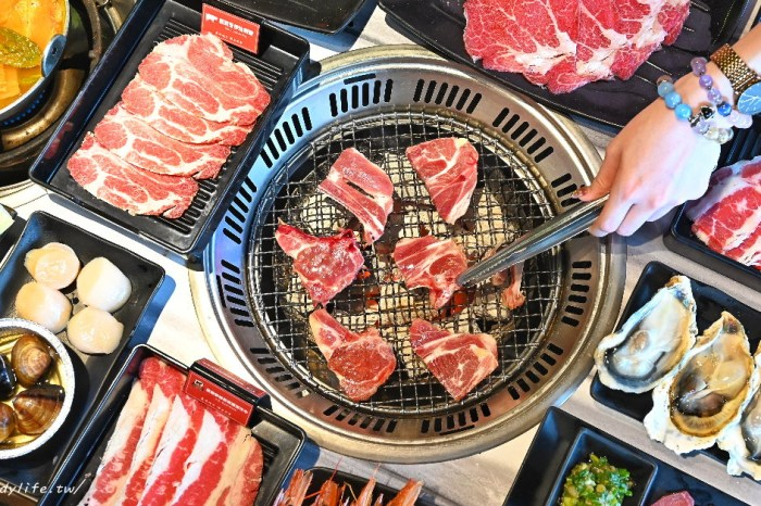 田季發爺燒肉逢甲店|台中燒肉吃到飽,和牛、超大生蠔、哈根達斯近百種食材任你吃,最低只要599元起~