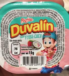 Nuevo Duvalin Sabor Coco Fresa