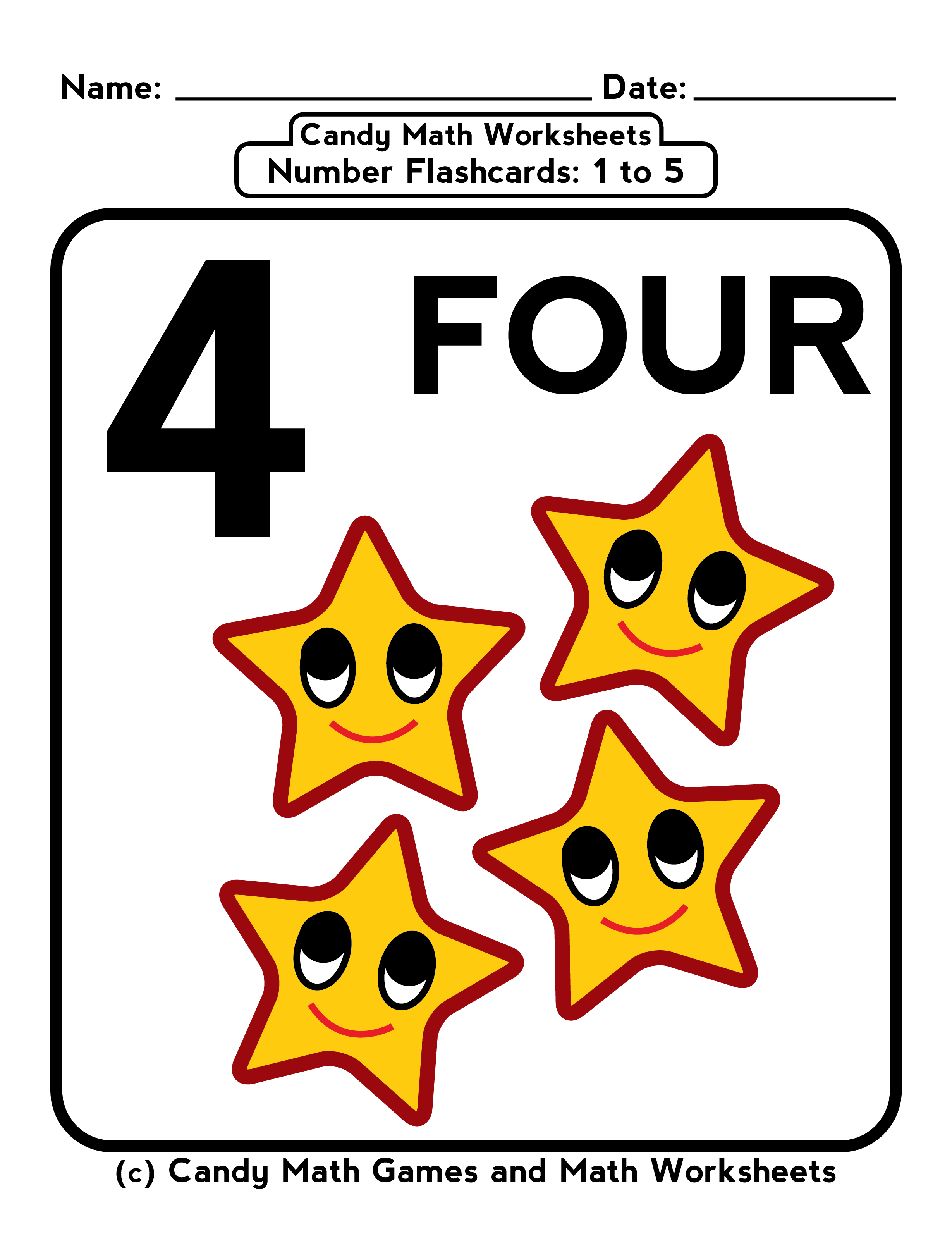 Five Frame Worksheet Numbers 1 5