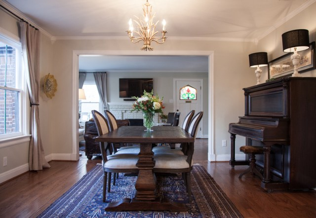 The dining room has an antique player piano. (Photo: Kim Leeson)