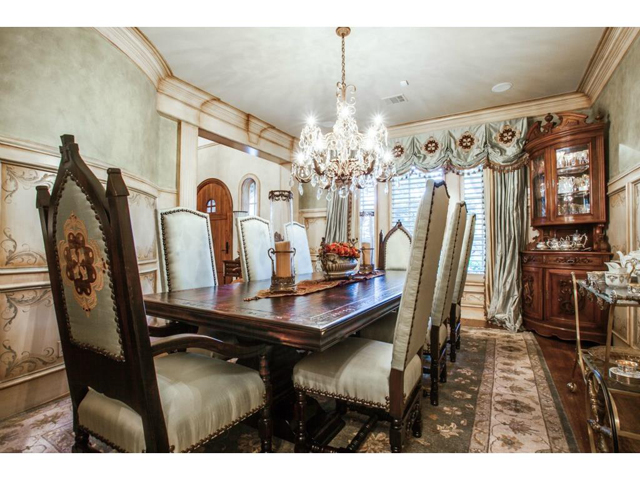 This residence was decorated by one of Dallas's most renowned in