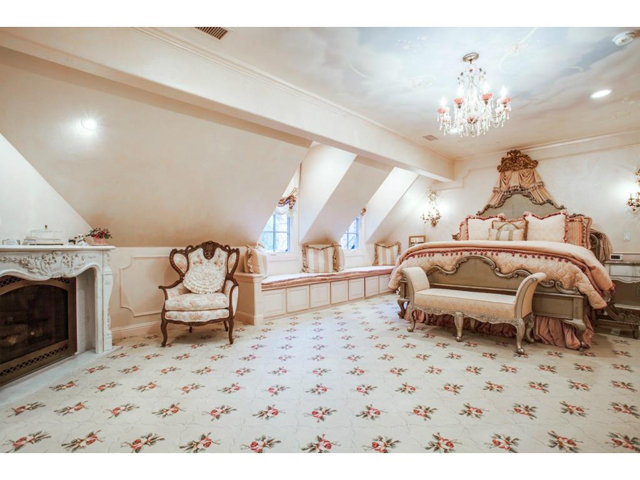 Beautiful upstairs suite features an awe-inspiring hand painted