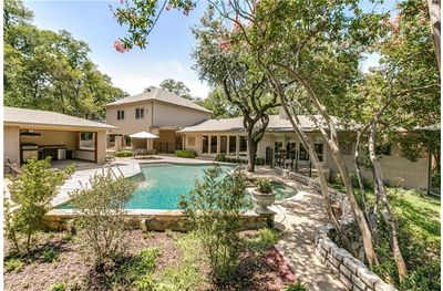 This five bedroom, five and a half bath home with a pool at 7538 Baxtershire is in the prestigious Jan Mar neighborhood, and is in the Kramer Elementary attendance zone.