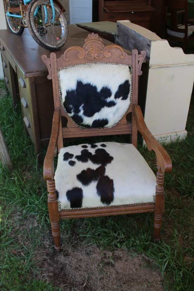 An old chair gets a new look. Photo: Lisa Stewart Photography