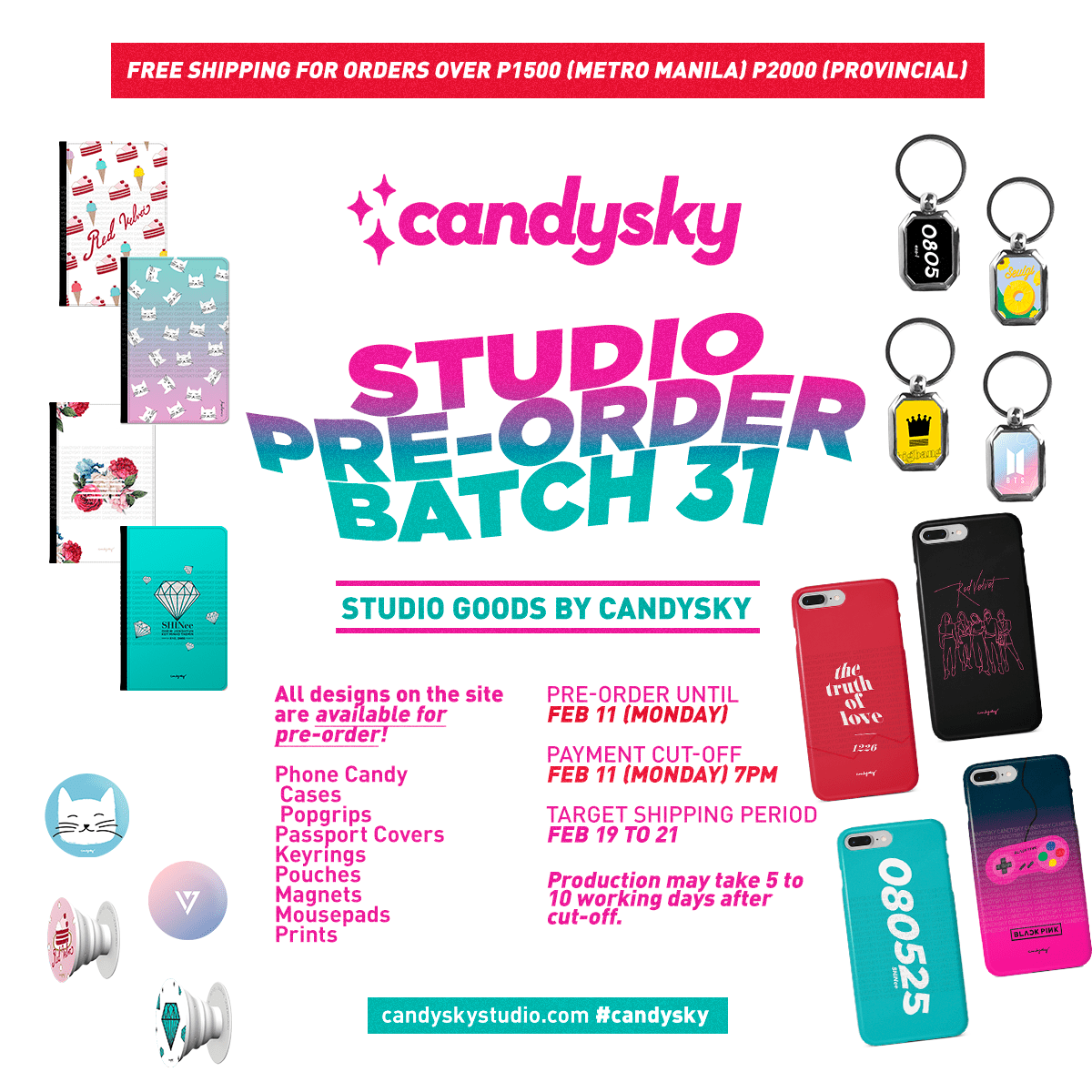 [NOTICE: OPEN] Studio Pre-order Batch 31 + FREE SHIPPING PROMO!