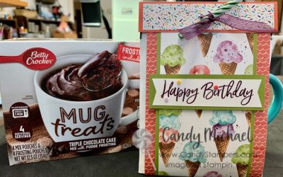 Birthday Mug Treats Cake using Stampin' Up! Ice Cream Corner Suite
