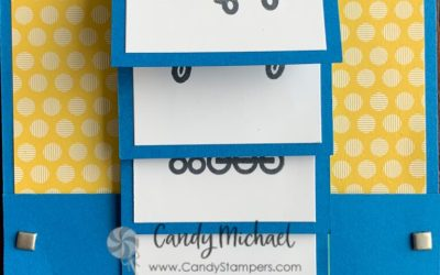 Waterfall Card & Scrapbook Page using Stampin' Up! Moving Along Stamps