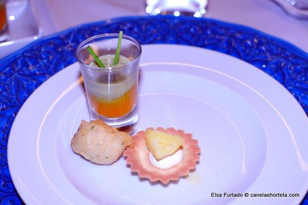 Shot de Legumes, com pataniscas