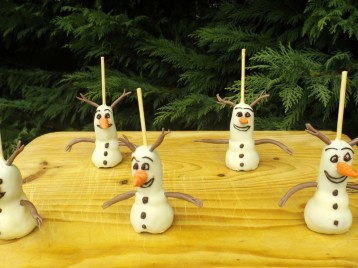 Cakes pops Olaf2