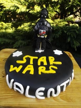 Gâteau Star Wars en pâte à sucre pour l'anniversaire de mon neveu Valentin