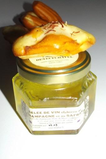 Madeleine marbré tomate gelée de champagne au safran2